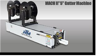 continuous gutter machine
